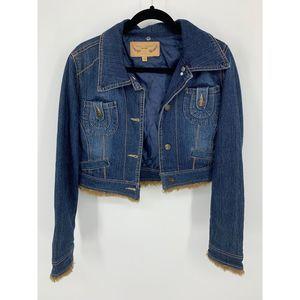 Marcelle renee vintage L jean jacket crop